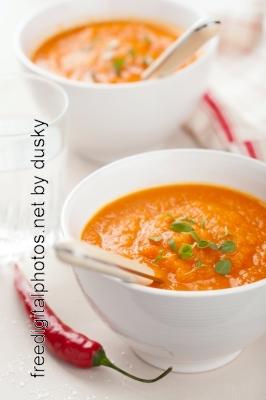 receita de sopa de abóbora com frango