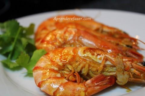 receita de camarão frito com alho