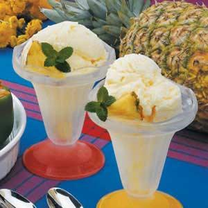 receita de gelado de ananás