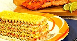 receita de lasanha de salmão