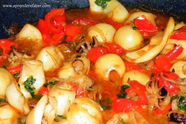receita de chocos com pimentos