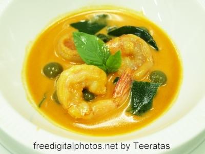 receita de caril de camarão