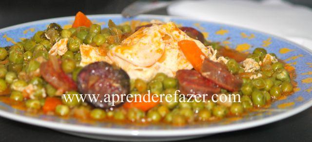 receita de ervilhas com ovos
