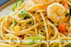 receita de chau min camarão