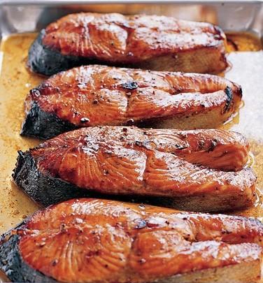 receita de posta de salmão no forno