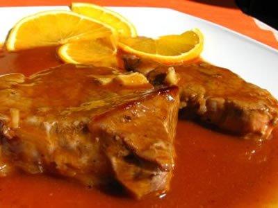 receita de bifes com laranja