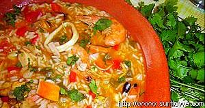receita de arroz de marisco