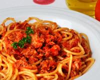 receita de esparguete com atum