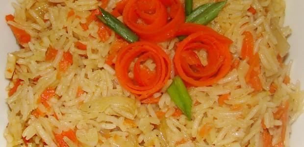 receita de arroz de cenoura