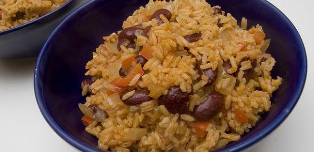 receita de arroz de feijão
